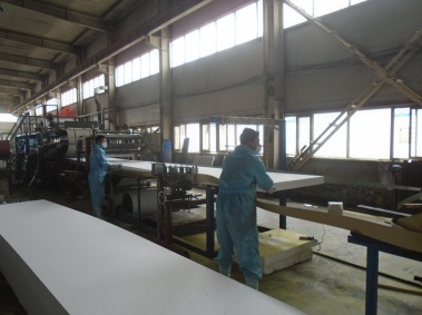 Composite board producing