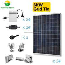High efficiency renewable 6kw solar energy system