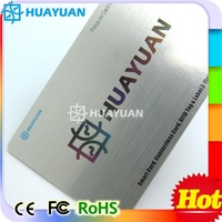 HUYUAN Plastic RFID business cards for promotion