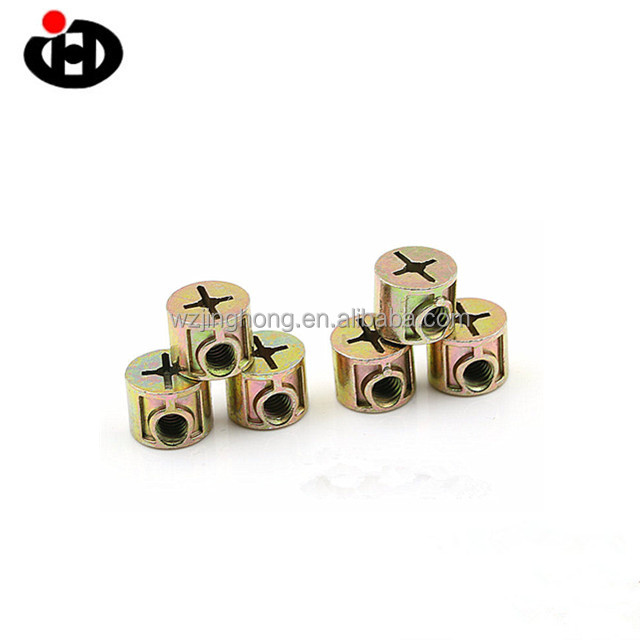 Nuts Bolts Hardware Fasteners Brass Barrel Nuts cross dowel nut