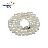 2016 freshwater AAA white color new design natural pearl necklace