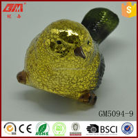 Factory new design glass bird with handpinted color and led light