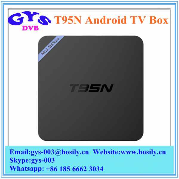 Amlogic S905 T95N M8S Pro Android TV Box RAM 2GB ROM 8GB NAND Flash KODI 16.0 Fully Loaded Android5.1 Smart TV Box