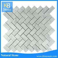 2015 new Peel & Stick Tiles Backsplash ,white carrara marble, mosaic peel and stick tile