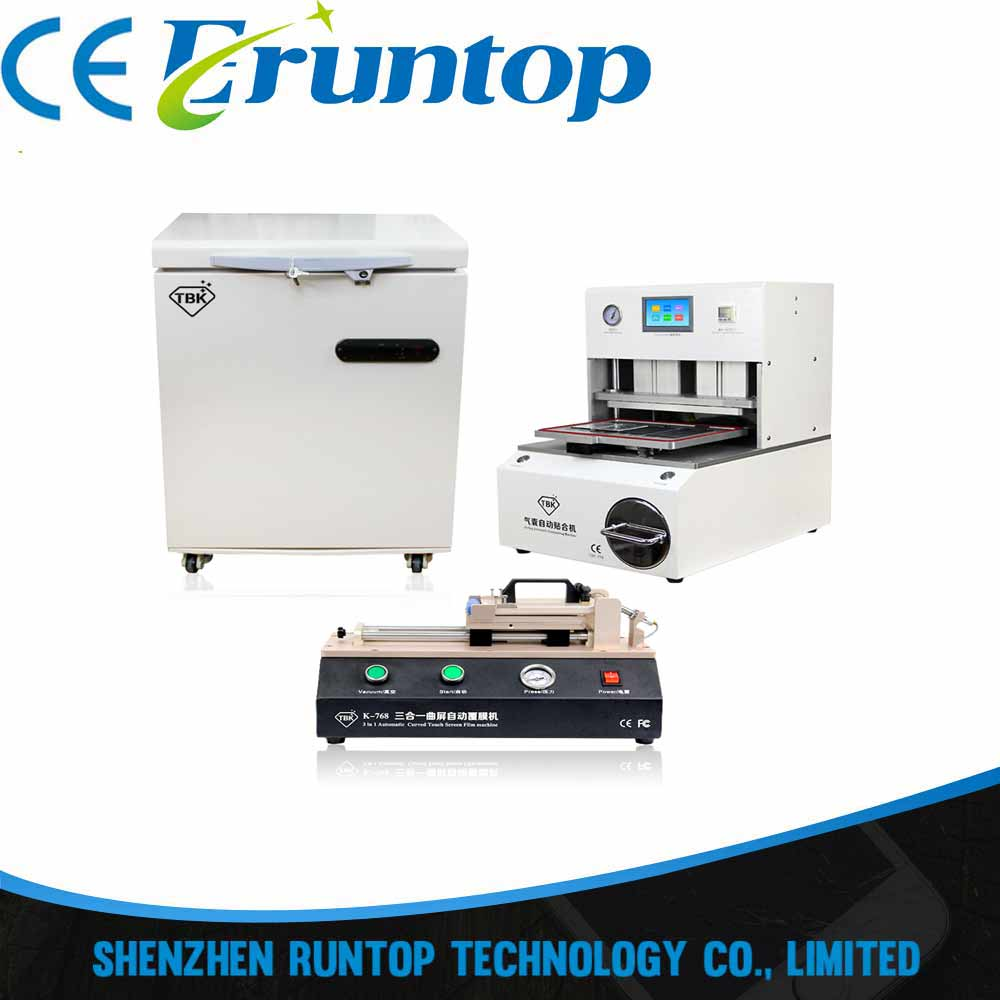 -150 Frozen LCD Screen Separator with 3 in 1 Automatic OCA Film VacuumLaminating Machine