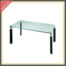 high quality double layer coffee table with casters