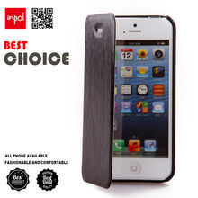 custom made PU leather slim fit flip mobile phone sleeve for iphone 4