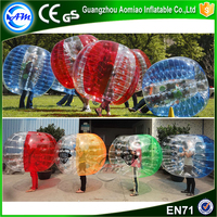 Customize PVC/TPU bubble soccer inflatable sumo bumper ball for sale