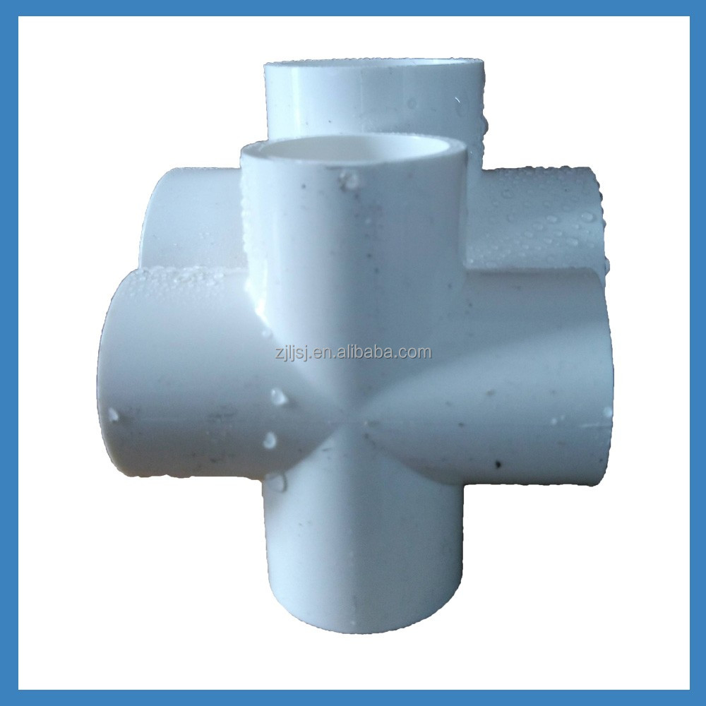 PVC fittings equal cross joint/four way cross socket for pvc pipe cold hot water