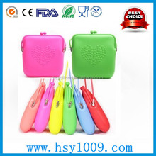 fashion bulk wholesale silicone rubber smart wallet/coin purse/handbag