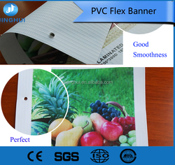 Resist fading Water resistant PVC flex banner with adhesive of 280gsm FL2382