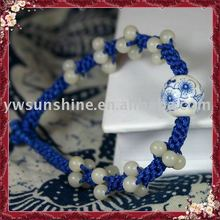 Blue-white porcelain weave jade jewelry