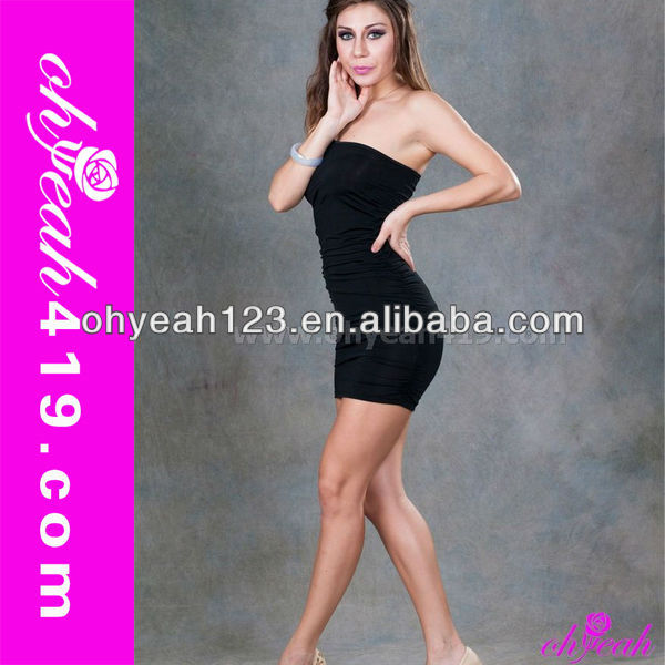 Elegant black wholesale sex club dress