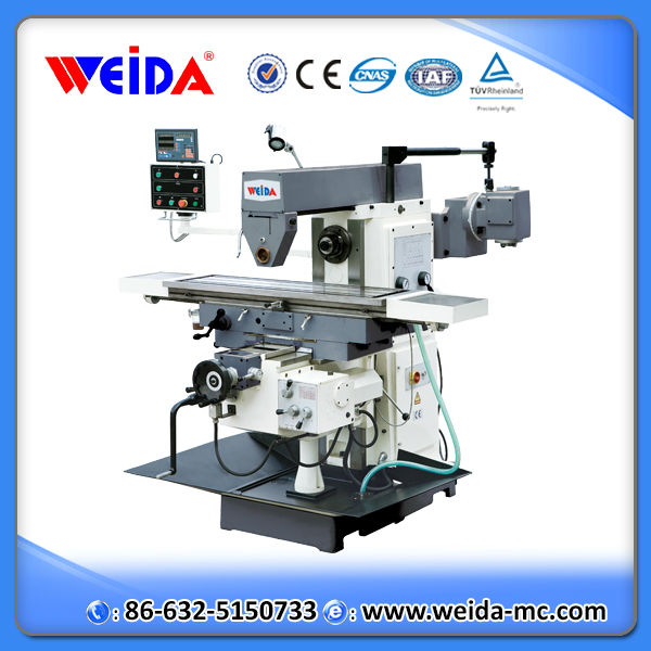 knee type universal manual horizontal worktable to benchtop milling machine XW6136 with vertical head