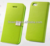 FL2506 2013 Guangzhou new arrival magnetic wallet ID card leather flip cover case for iphone 5c