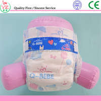 2016 hot sale famous brand Q-BEBE quick absorbtion baby diapers with good quality china supplier