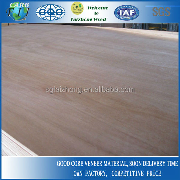 Commercial Grade Red Meranti Veneer Plywood