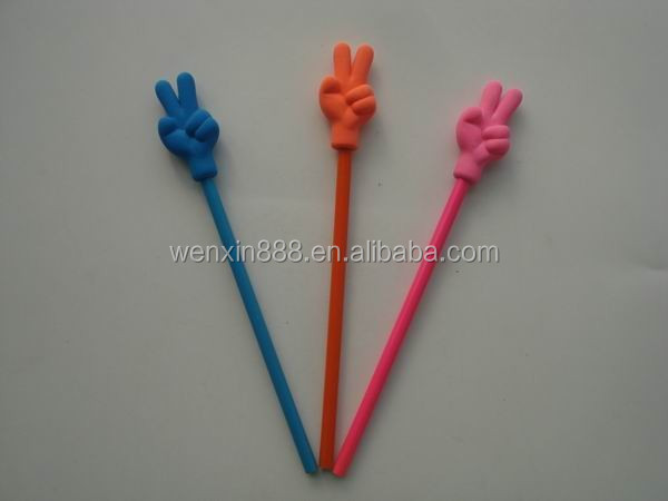good quality hand finger shaped eraser pencil