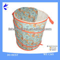 Printed!!! Rolling Round Pop up laundry basket with canvas bag
