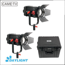 2 Pcs CAME-TV 100w Boltzen Focusable Studio Camera Video Daylight Fresnel Led Lights Kit
