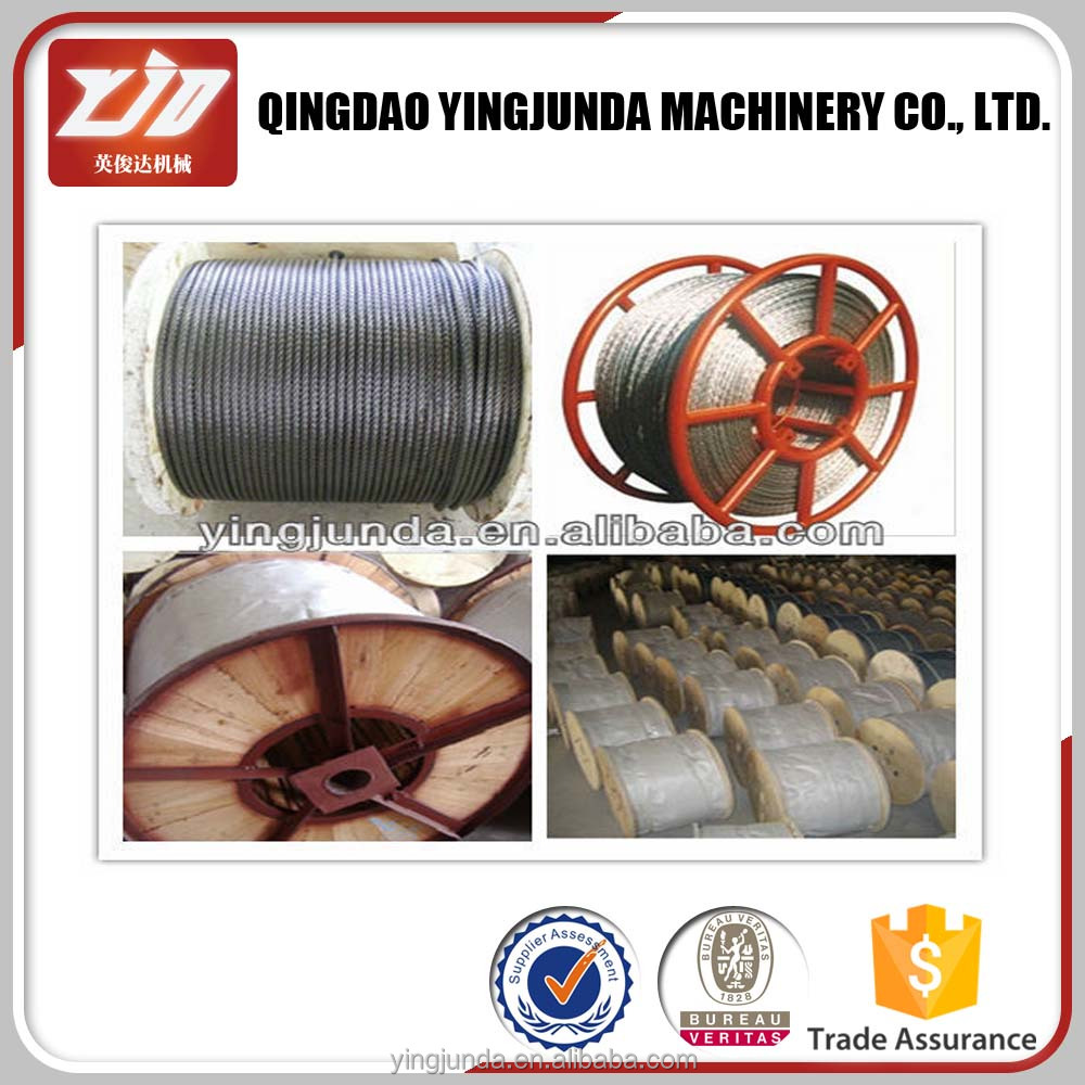 Line contacted galvanized wire rope