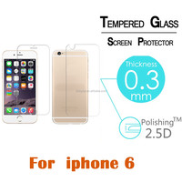 HD Clearly 9H Guard Tempered Glass Screen Protector For iphone6 Factory Price