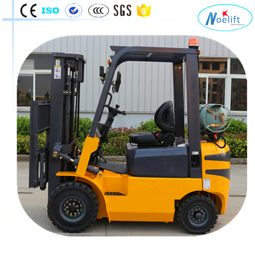 forklift with cotton bale clamp Low noise forklift truck gasoline & LPG with counter weight, side shifter, solid tyre
