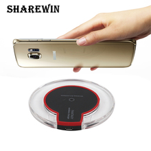 Qi Wireless Charger Fantasy Crystal Charging Pad With Led Lighting Mobile Phone For Samsung s7
