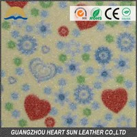 pu leather glitter for shoes and bags ( nuevo material para calzado)