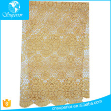 2016 fashion lace design Water soluble cloth eyelet embroidery fabric voile lace high quality Multiple choice orange