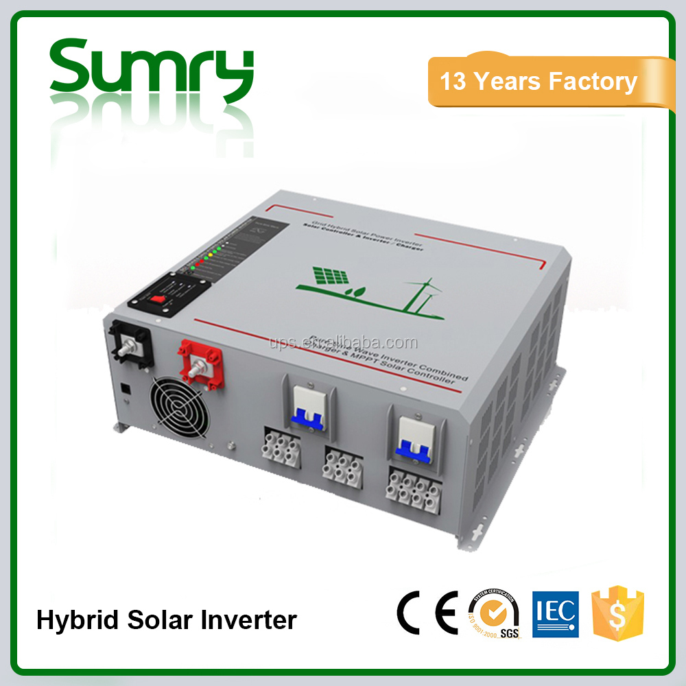 Pure sine wave solar panel inverter with MPPT charge controller built-in , PV inverter