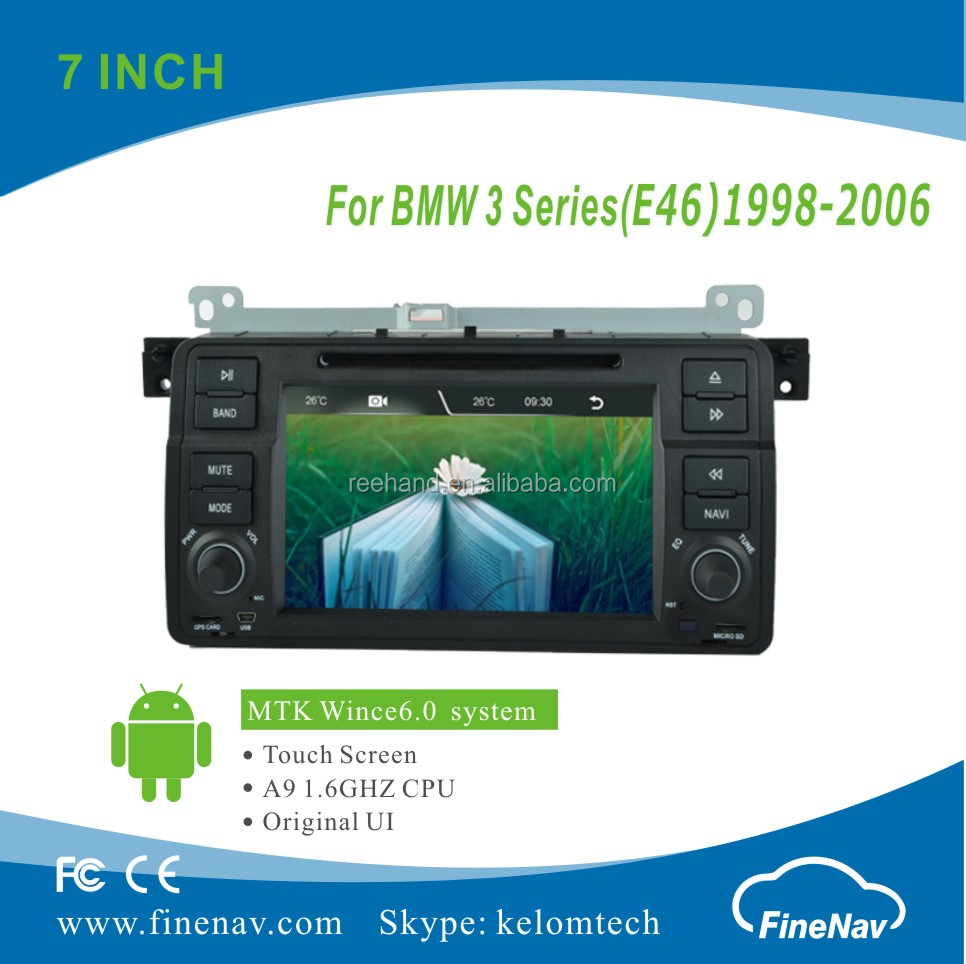 A9 Wince 6.0 Car DVD Player For BMW 3 Series E46 With Original UI BT canbus touch screen Support 3G iPod DVR rear view camera