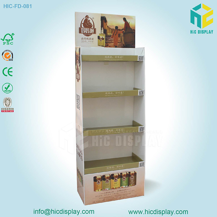 HIC DISPLAY Cardboard shlef for spices,spices display stand