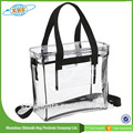 2017 Alibaba China Wholesale Waterproof Zipper Pvc Clear Shoulder Bag
