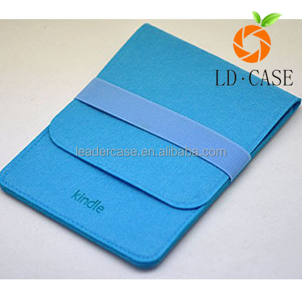factory wholesale Recyclable felt fabric laptop sleeve with kindle case