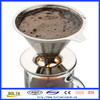 Alibaba China stainless steel filter with pour over coffee stand stainless steel coffee dripper