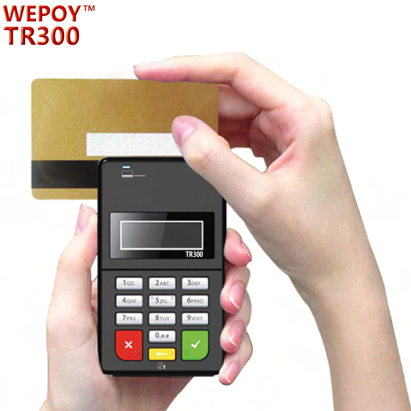 EMV PCI Mobile bluetooth card swipe machine with keyboard