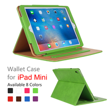 Customized Protective Back PU Leather Tablet Cover For iPad Mini 4 2 Case