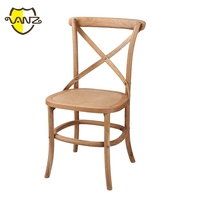 X back design Home Furniture Upholstered wooden wedding armless chair