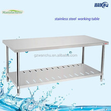 Assemble Kitchen Stainless Steel Work Table With Under Shelf