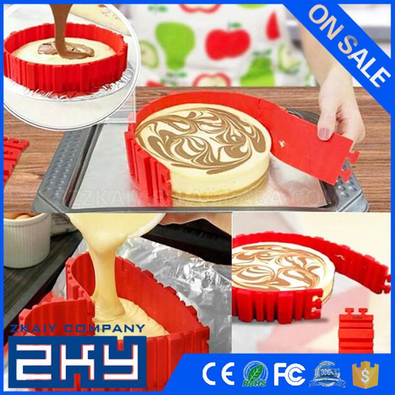 DIY Square Rectangular Heart Round Silicone Red Bake Stands Cake Snakes Baking Magic Cake Mold 4pcs/set