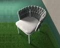 garden furniture outdoor aluminum rope chair