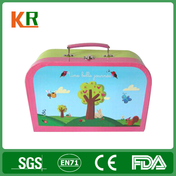 Full Color Printing Children Favor Square Customized Gift Small Metal Printing Lunch Tin Container