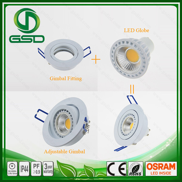 High quality 7W MR16 GU10 COB LED Spotlight replace gu10 halogen recessed ceiling light fixture