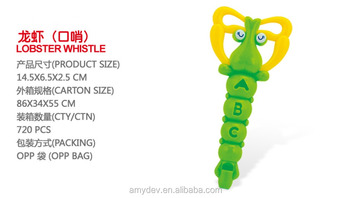 hot sale toy musical instruments plastic lobster whistle for kids