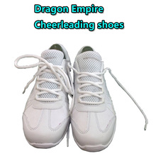 Cheerleading Sneakers Women's Size 6.5 soft durable sole Pure white unisex Cheerleading dance shoes