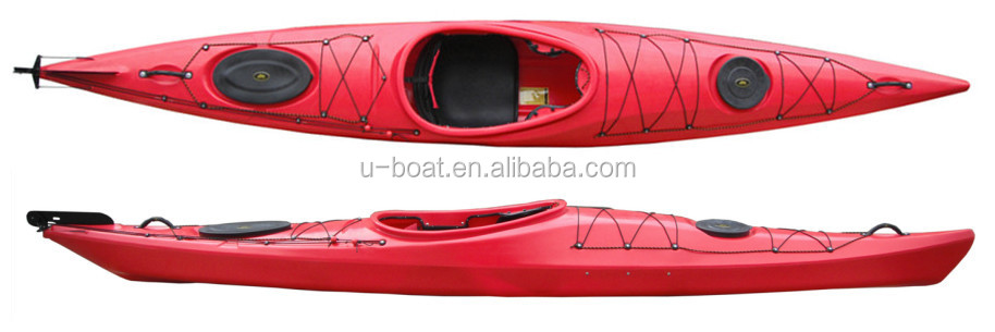 Ocean Kayak with Rudder and Foot-Pedal System
