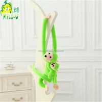 Customized Animal Plush Green Tree Bag Long Arm Monkey Toys