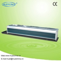 Chilled water duct ceiling fan coil unit with return box and filter