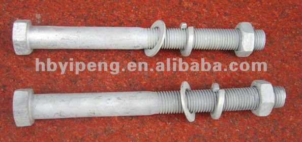 Hardware Hex Bolt with Nut and Washers